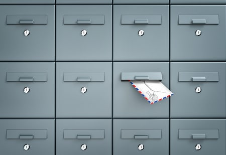 54908268 - mailboxes. in one of the mailbox received a letter