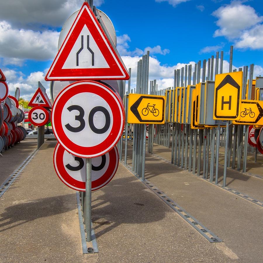 Fehlerhafte Interpretation einer Geschwindigkeitsbeschilderung