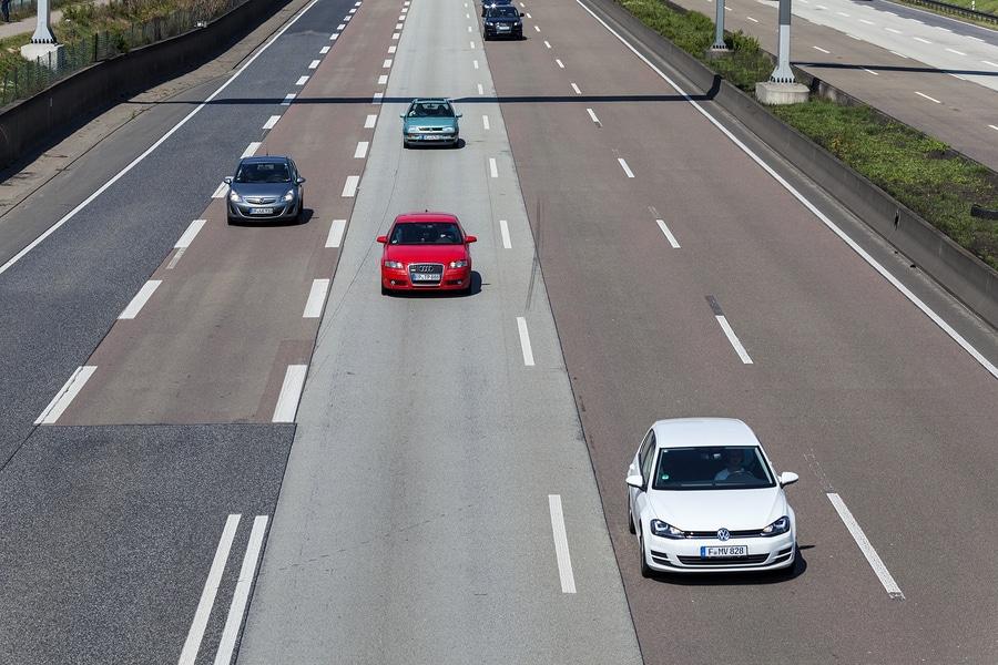 Geschwindigkeitsmessung durch nachfahren