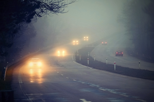 Einsatz von Nebelscheinwerfer