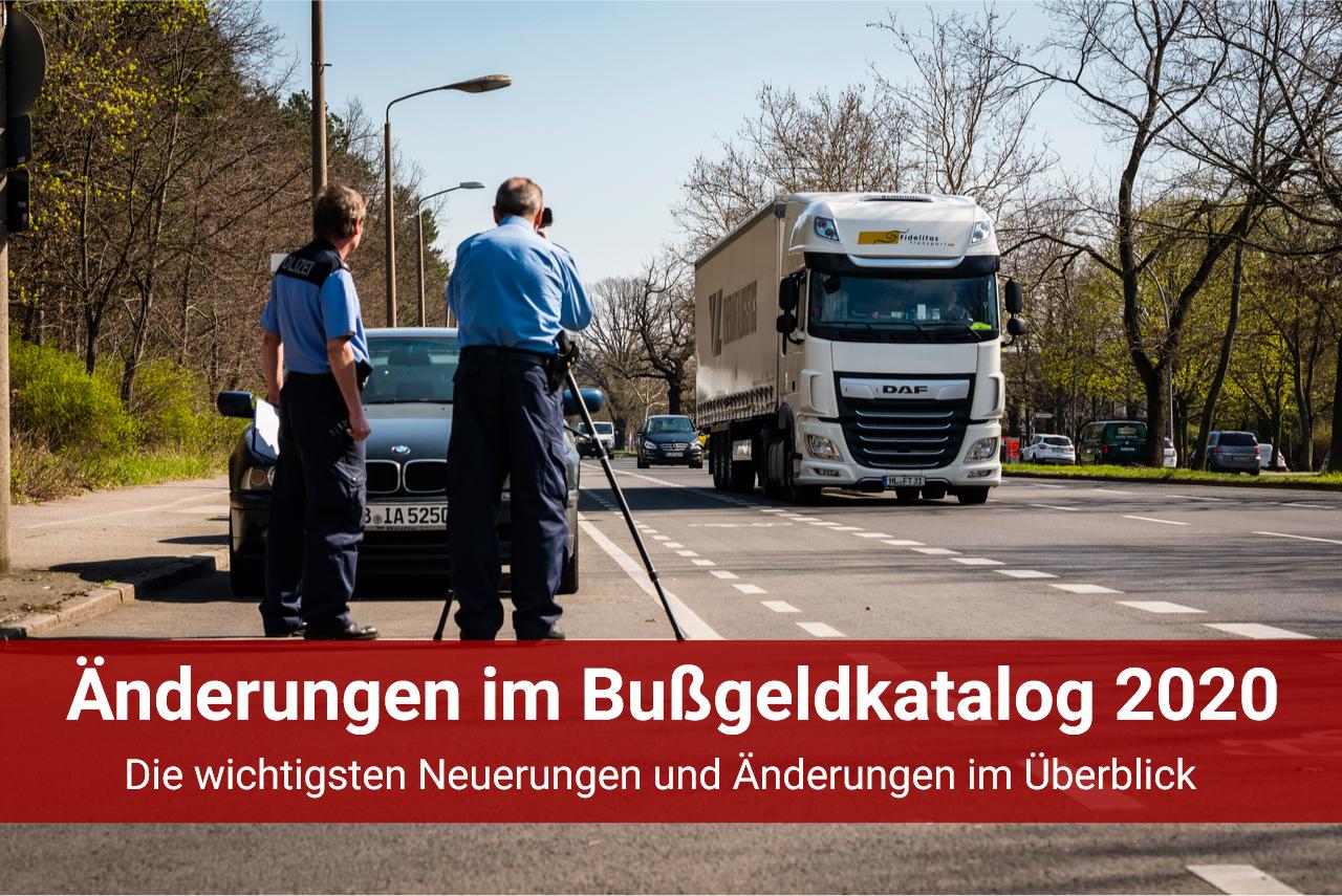 Bussgeldkatalog Änderungen 2020