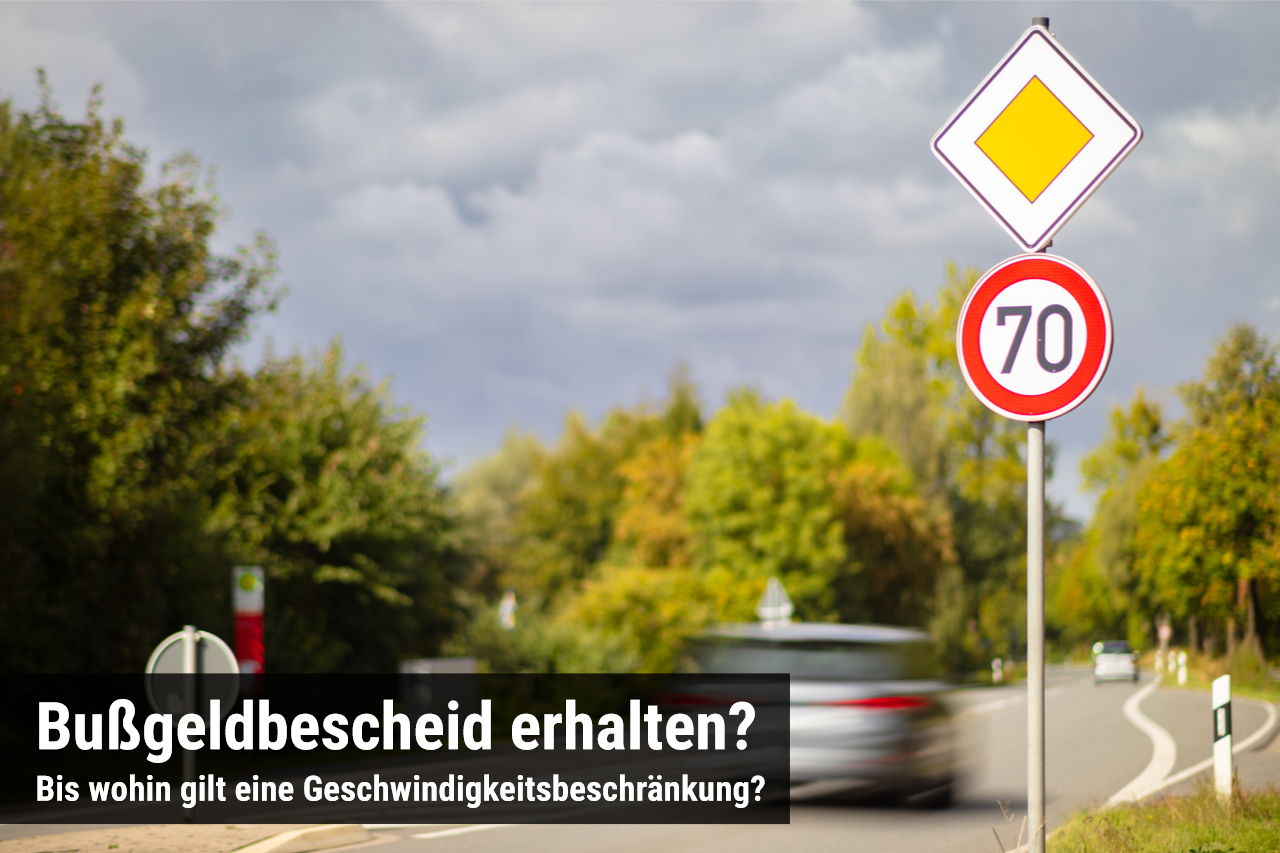 Wann ist eine Geschwindigkeitsbeschränkung zu Ende?