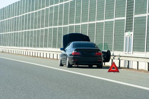 Liegenbleiben auf Bundesautobahn - Halten auf Grund einer Betriebsstörung
